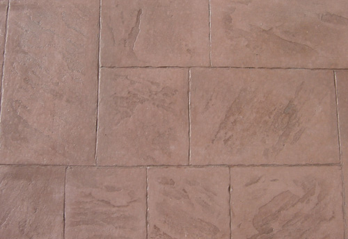 This is a close-up of a slab stamped with the Ashlar Slate stamp.