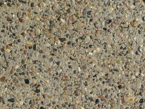 This is a close-up of a completed exposed aggregate slab.